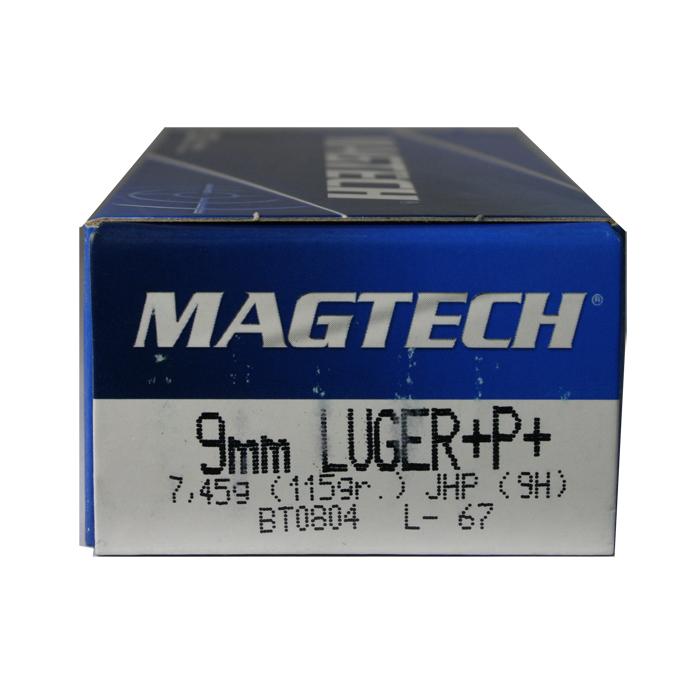 Magtech 9mm Luger 115 Gr  Jacketed Hollow Point Ammunition +