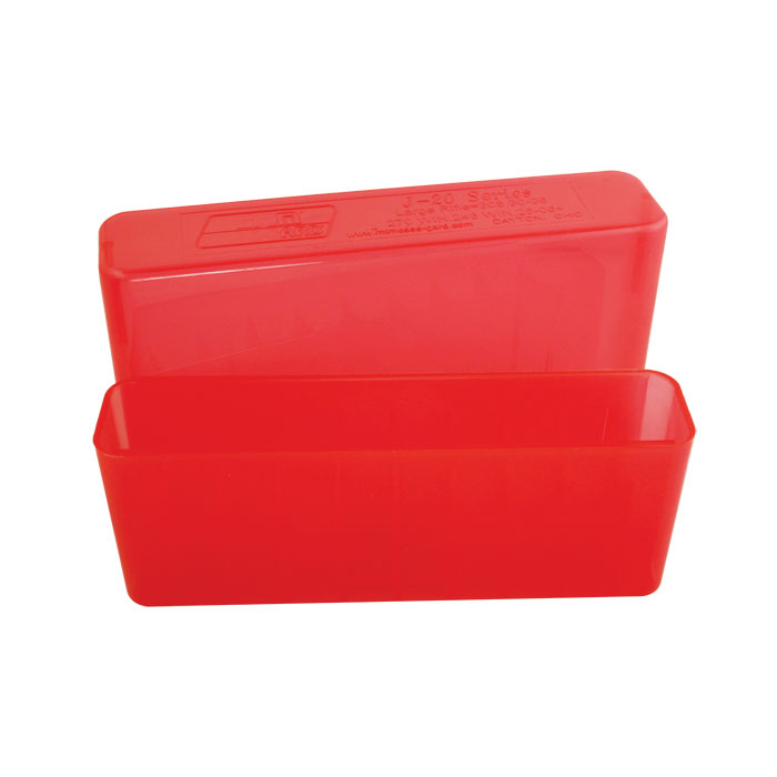 MTM 20 Round Slip Top Rifle Ammo Box (Clear Red) 30-06, 30
