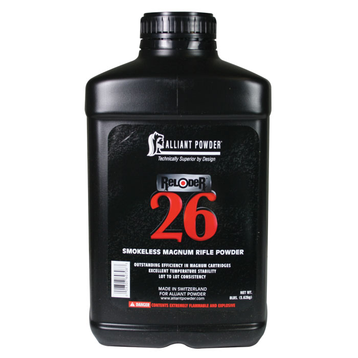 Alliant Reloder 26 Smokeless Powder (8 Lbs ) - Precision